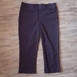 Maurices Navy Polished Capri Pants